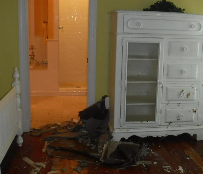 Water damage caused by heavy rains