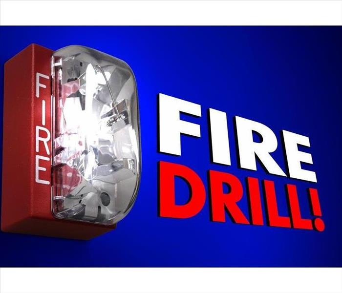Fire Drill words in 3d